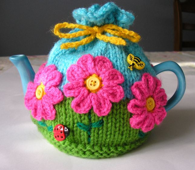 flower garden tea cosy